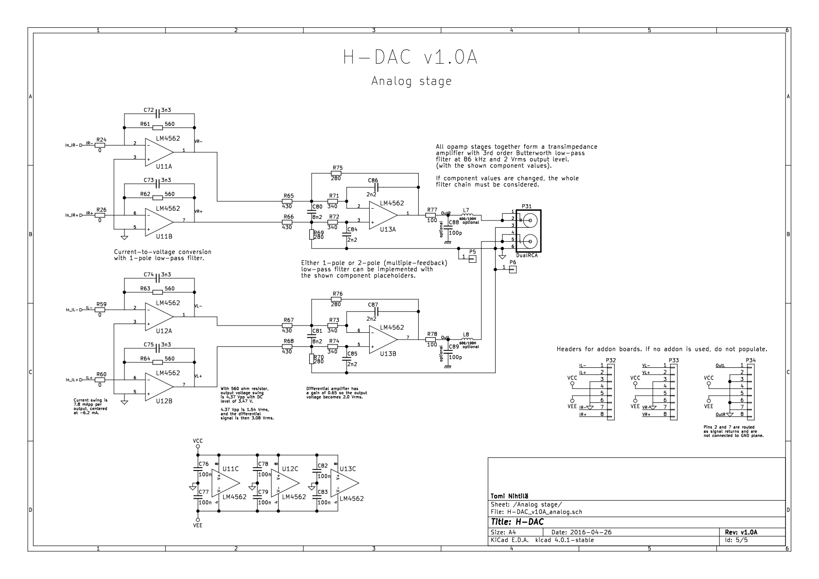 PCM1794A output stage opamp measurements: LM4562, NE5532, and