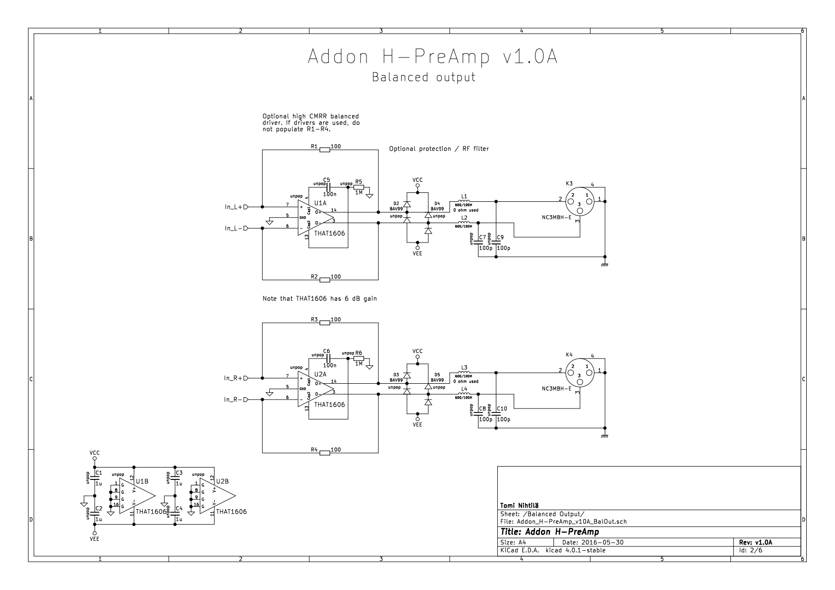 Addon H-PreAmp – Preamplifier/headphone amplifier addon for
