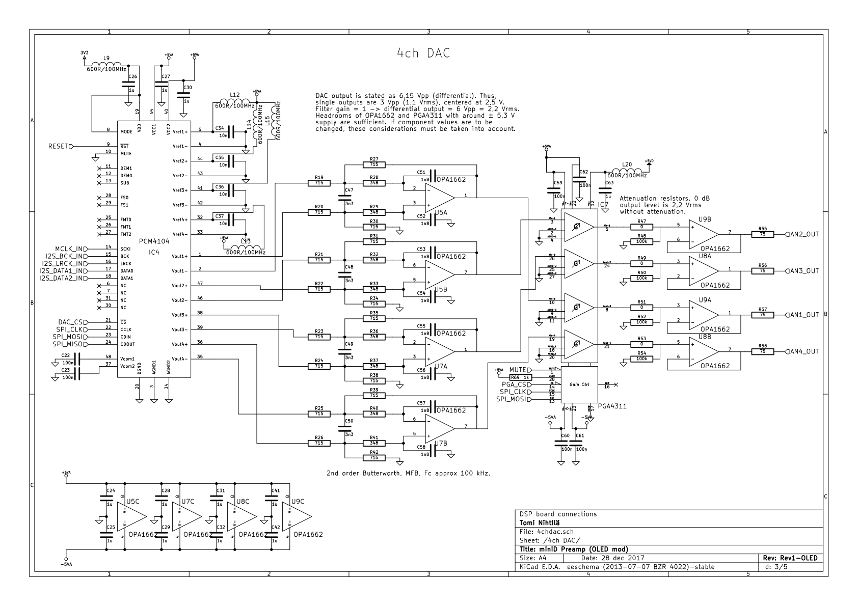 Minid Preamp Tiny Minidsp Based 4 Channel Preamplifier How To Build Automatic Loudness Control Circuit Schematic Dac Analog Stage And Volume